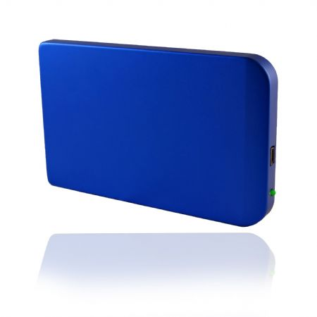 USB 2.0 External 2.5'' SATA HDD Enclosure Aluminum Case Caddy in Blue color
